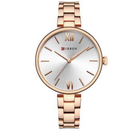 MONTRE QUARTZ ELEGANTE - rose